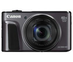 PowerShot SX720 HS Superzoom Compact Camera - Black
