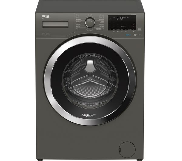 BEKO Aquatech WEX94064E0G Bluetooth 9 kg 1400 Spin Washing Machine - Graphite