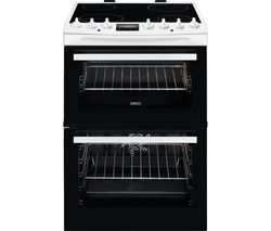ZANUSSI AirFry ZCV69360WA 60 cm Electric Ceramic Cooker - White Best Price, Cheapest Prices