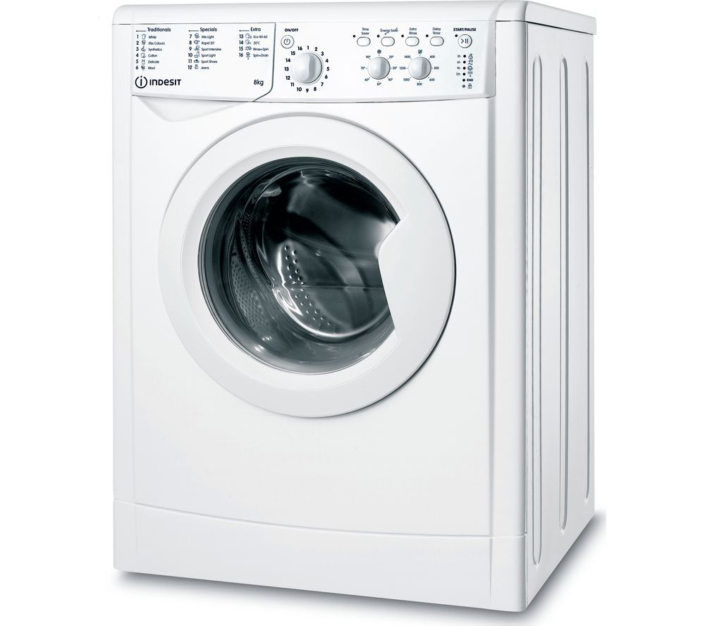 INDESIT IWC 81483 W UK N 8 kg 1400 Spin Washing Machine - White