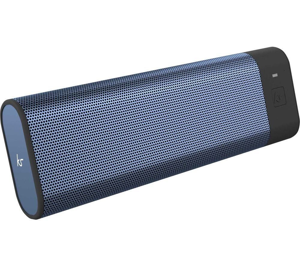 KITSOUND BoomBar Portable Bluetooth Speaker - Metallic Blue, Blue