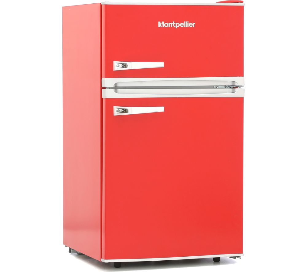 MONTPELLIER Retro MAB2035R Undercounter Fridge Freezer - Red