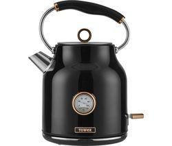 Bottega T10020 Traditional Kettle - Black & Rose Gold
