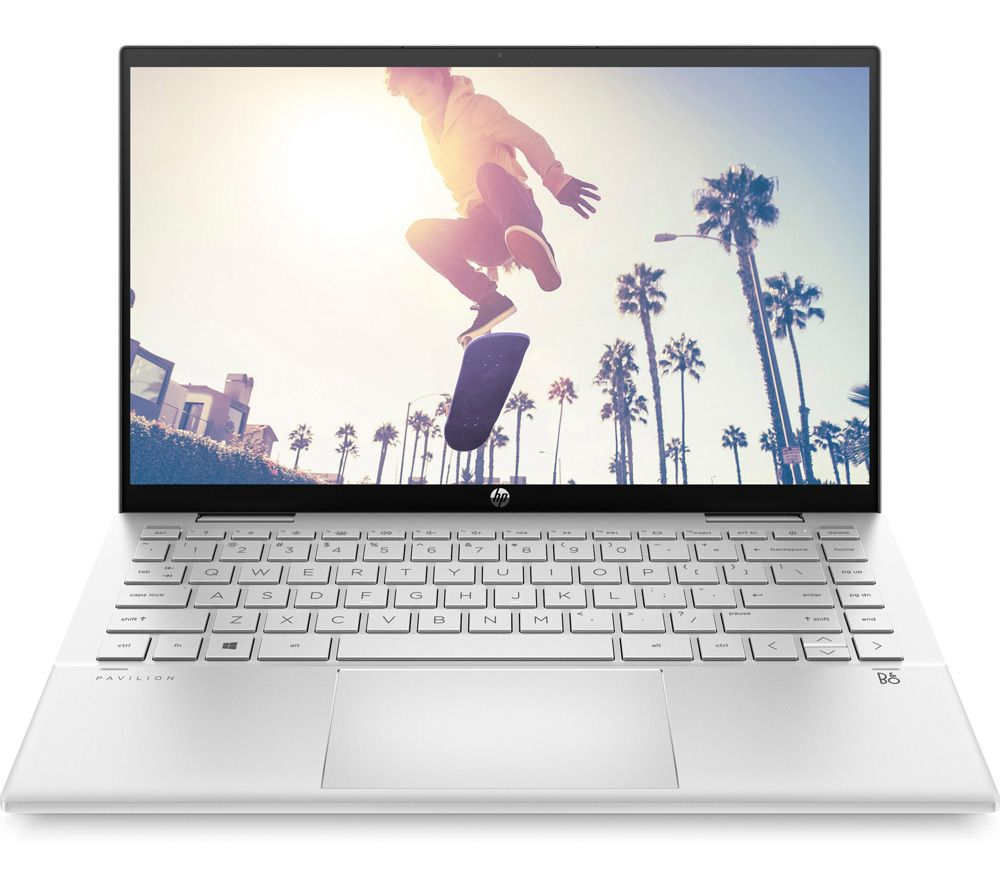 "HP Pavilion x360 14-dy0502sa 14"" 2 in 1 Laptop - Intel® Pentium™ Gold, 128 GB SSD, Silver"