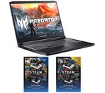 £1099, ACER Predator Triton 300 GTX 1660 Ti Laptop & £30 Steam Card Bundle, Intel® Core™ i7-10750H Processor, RAM: 16GB / Storage: 1 TB SSD, Graphics: NVIDIA GeForce GTX 1660 Ti 6GB, 196 FPS when playing Fortnite at 1080p, Full HD screen / 144 Hz,