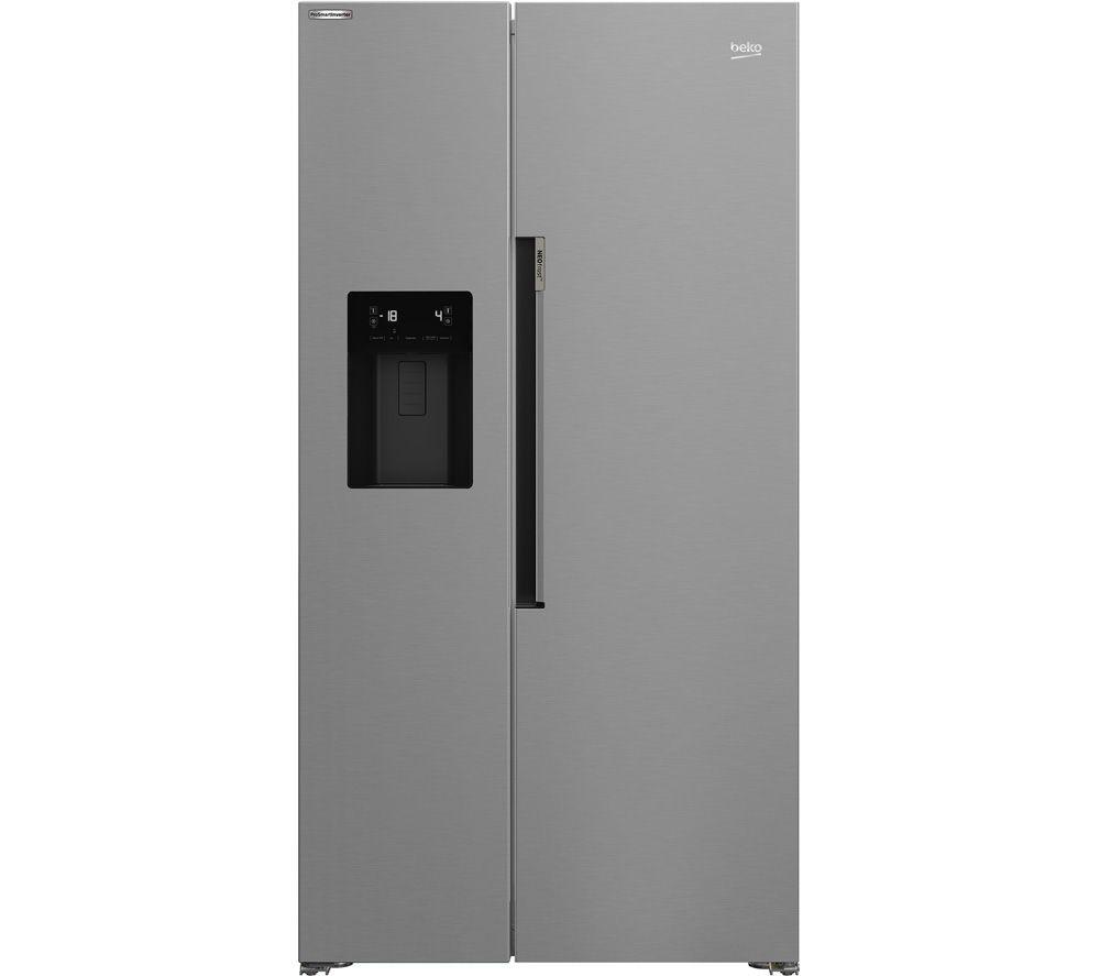 BEKO HarvestFresh ASP34B32VPS American-Style Fridge Freezer - Stainless Steel, Stainless Steel