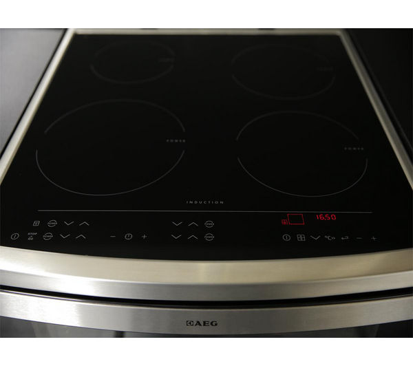 buy aeg 49106iu mn electric induction cooker stainless steel free delivery currys