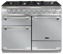 RANGEMASTER Elise 110 Dual Fuel Range Cooker - Stainless Steel & Chrome