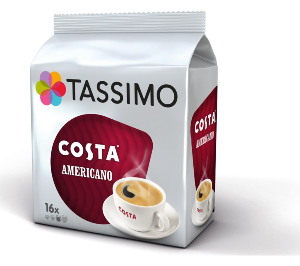 Compare prices for Tassimo Costa Americano T Discs Pack of 16