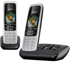 GIGASET C430A Duo Cordless Phone with Answering Machine - Twin Handsets