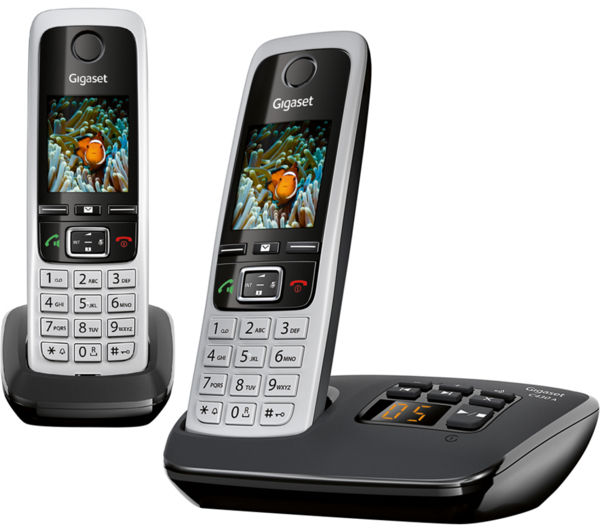 Image of GIGASET C430A Duo Cordless Phone with Answering Machine - Twin Handsets