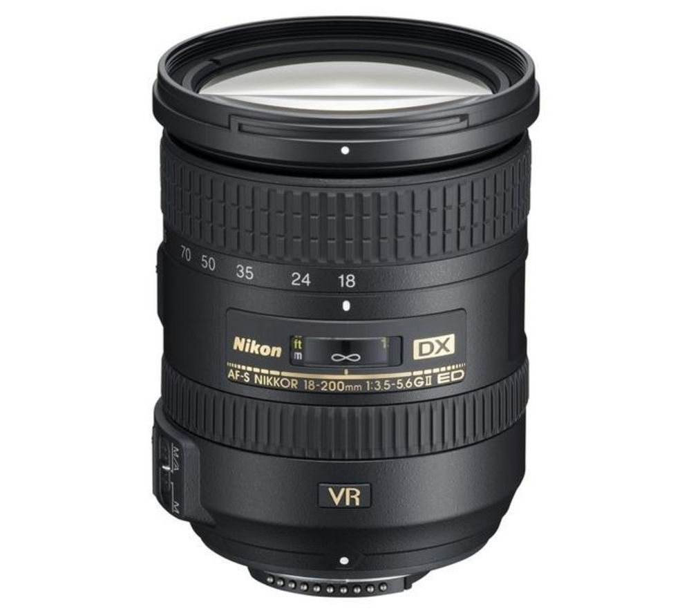 NIKON AF-S DX NIKKOR 18-200 mm f/3.5-5.6G ED VR II Telephoto Zoom Lens + DSLR Cleaning Kit