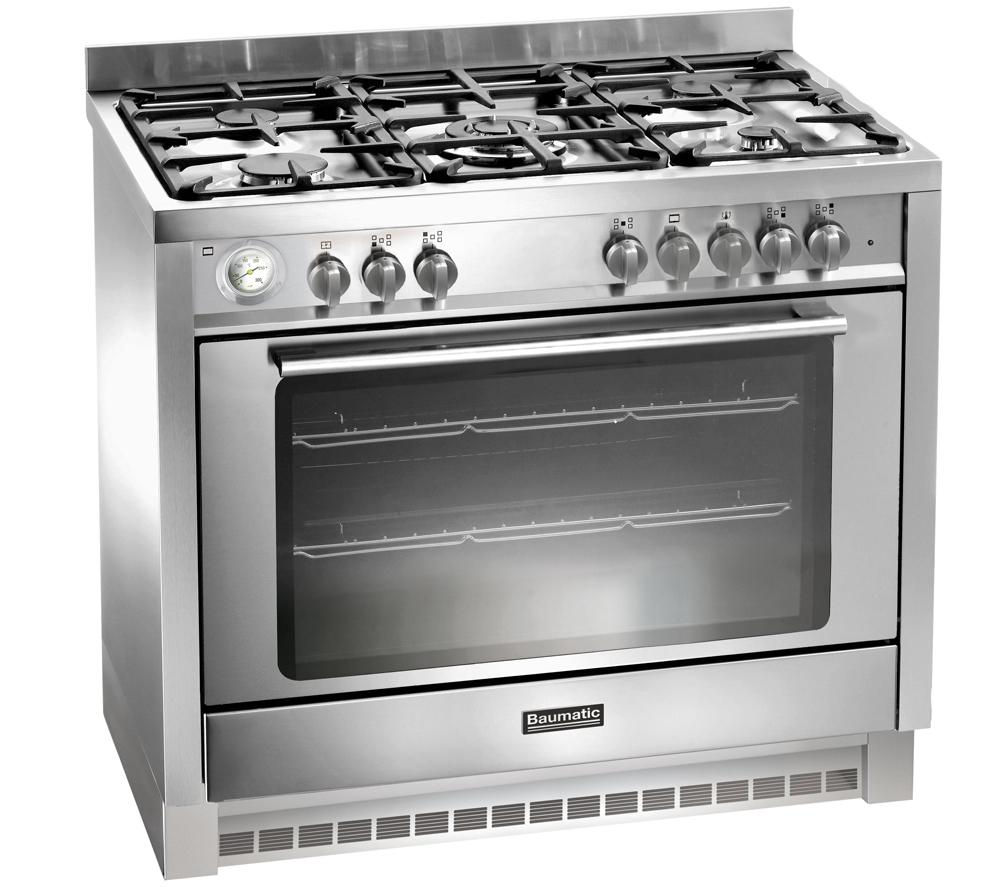 Image of BAUMATIC BCD905SS Dual Fuel Range Cooker - Stainless Steel, Stainless Steel