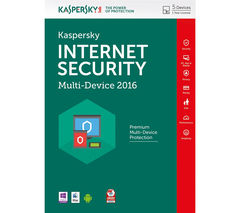KASPERSKY Internet Security 2016 - 1 year for 5 devices