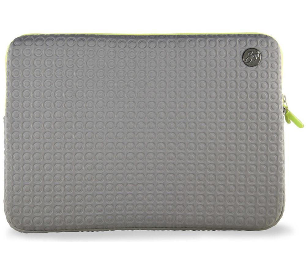 "Image of GOJI GSMGY1316 13"" MacBook Pro Sleeve - Grey & Green, Grey"
