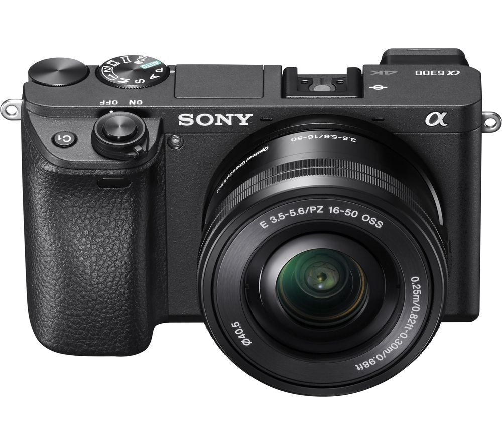 SONY a6300 Mirrorless Camera with 16-50 mm f/3.5-5.6 Lens + Extreme Plus Class 10 SDXC Memory Card - 64 GB