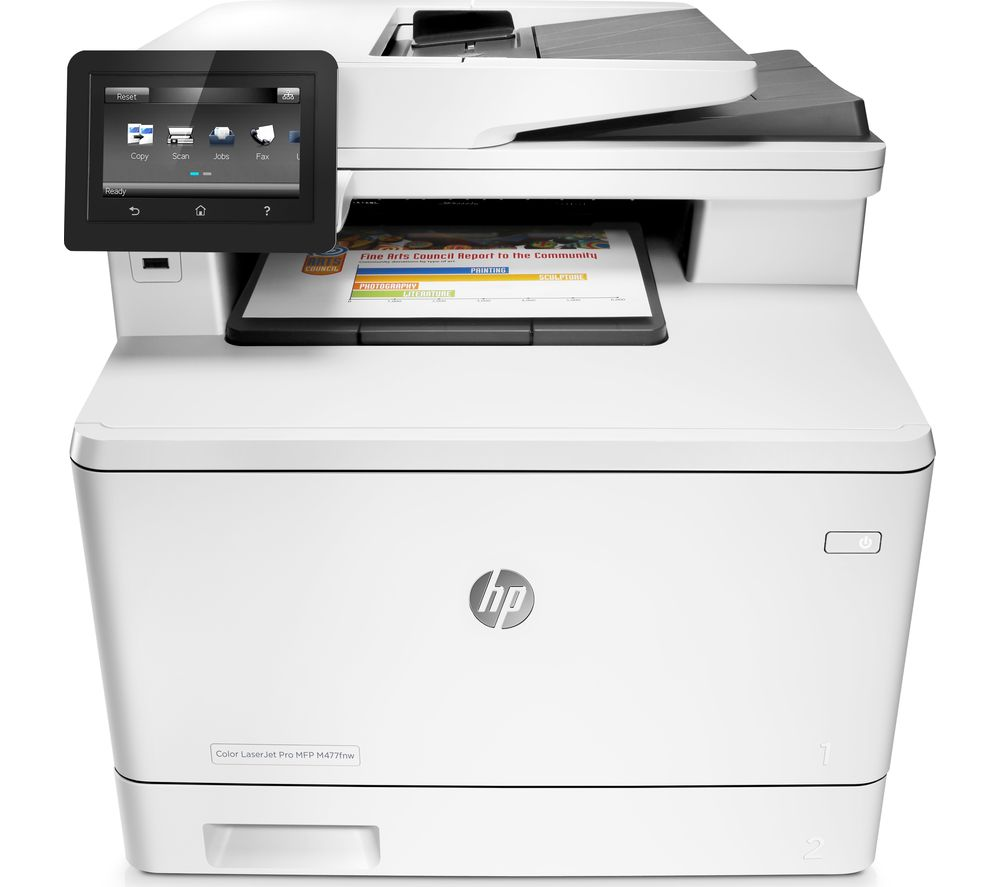 M477nw All-in-One Wireless Laser Printer with Fax + Remanufactured CF410A Black HP Toner Cartridge