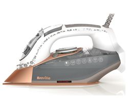 BREVILLE DiamondXpress VIN401 Steam Iron - White & Rose Gold