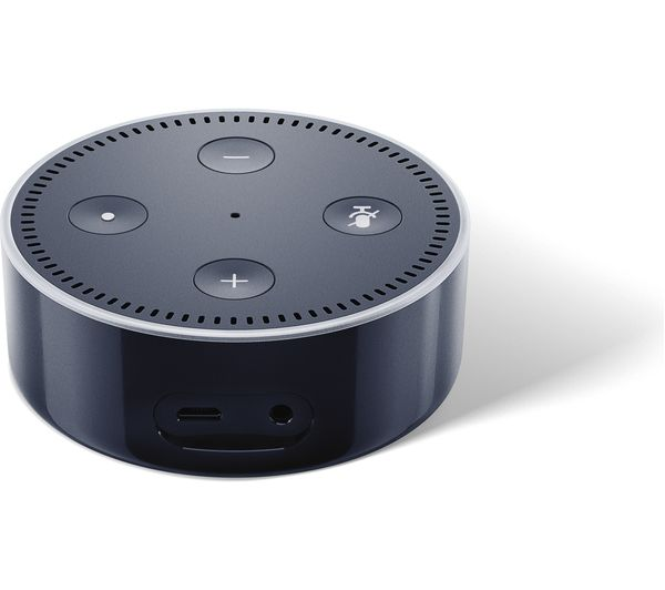buy amazon echo dot black free delivery currys. Black Bedroom Furniture Sets. Home Design Ideas