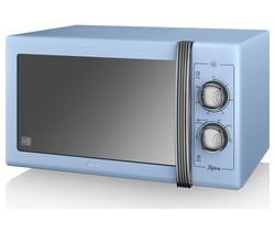 SWAN Retro SM22070BLN Solo Microwave - Blue Best Price, Cheapest Prices