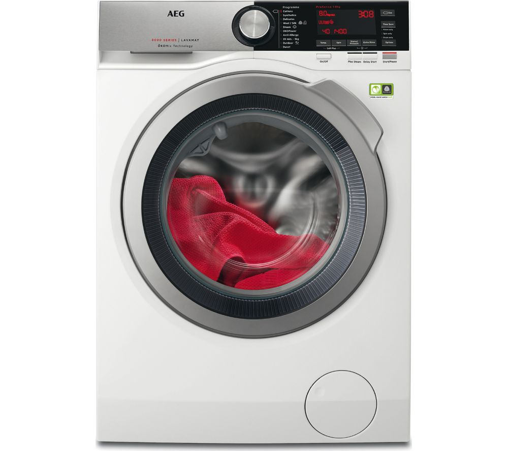 AEG OkoMix L8FEC846R Washing Machine - White