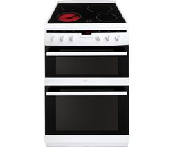AMICA 608DCE2Ta(W) Electric Ceramic Cooker - White Best Price, Cheapest Prices