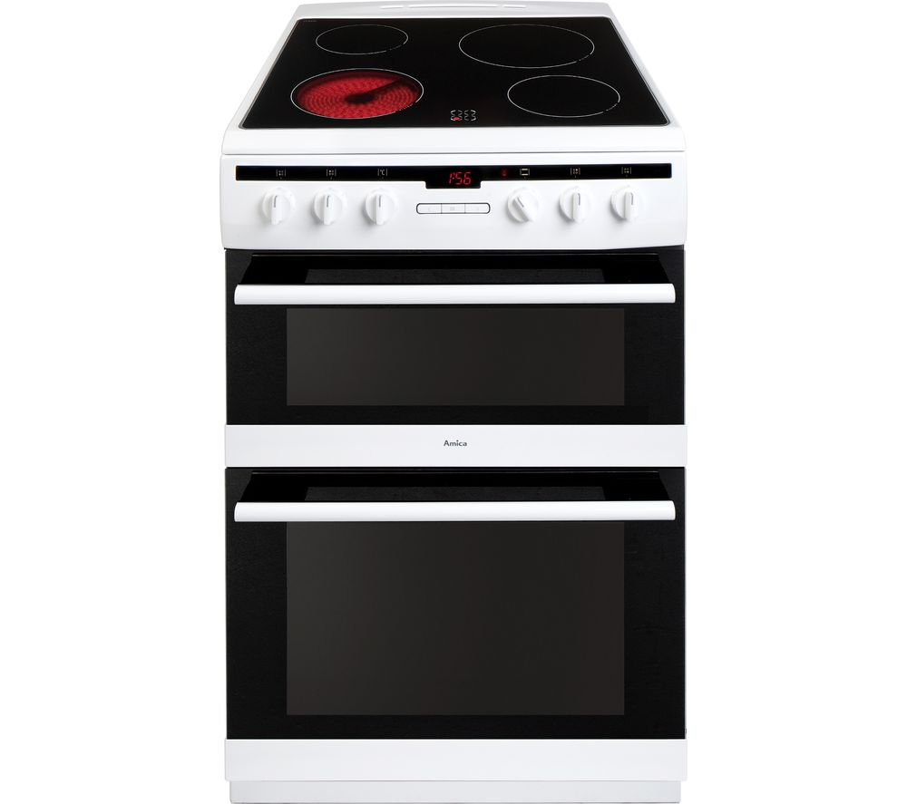 AMICA 608DCE2Ta(W) Electric Ceramic Cooker - White
