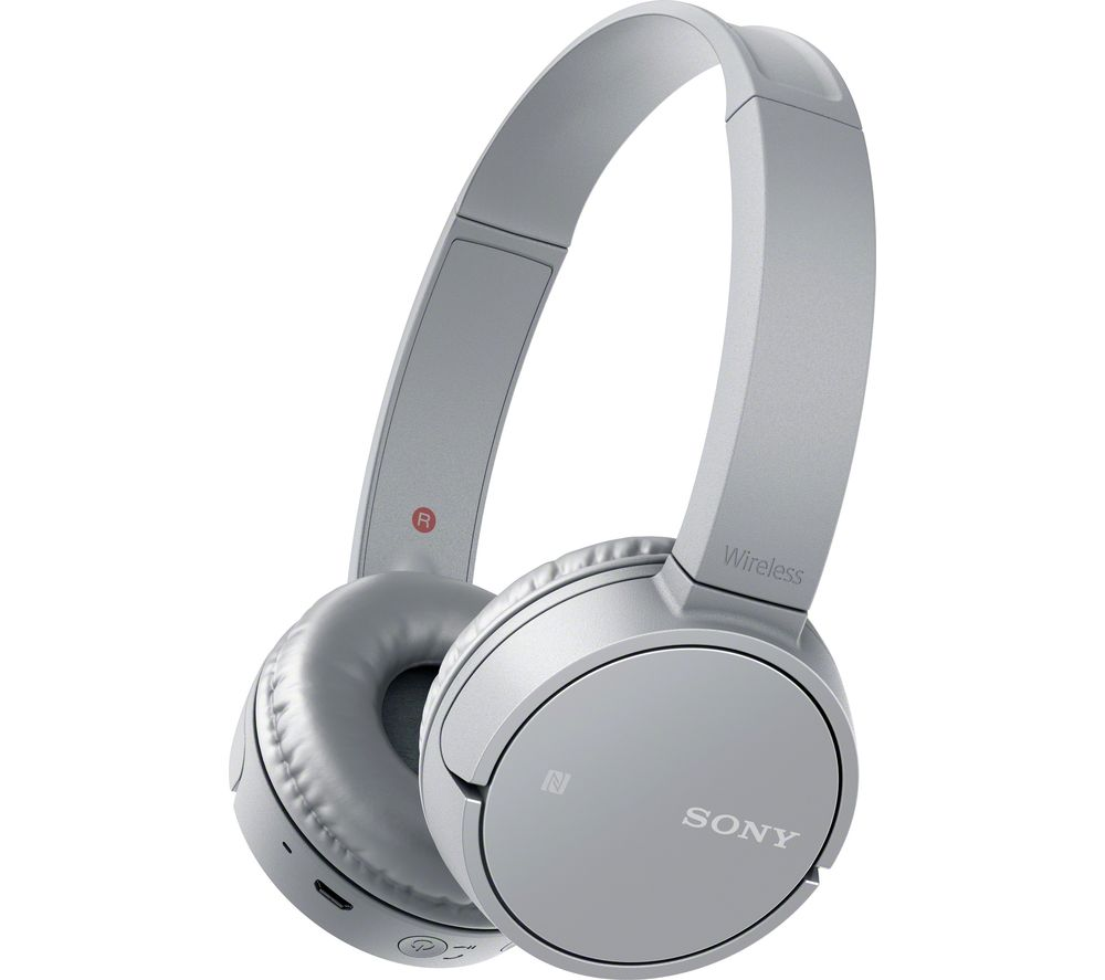 SONY MDR-ZX220BTH Wireless Bluetooth Headphones - Silver