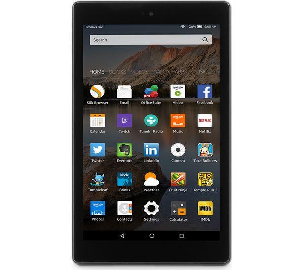 AMAZON Fire 7 Tablet with Alexa (2017) - 8 GB, Black