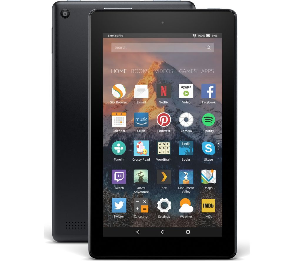 Image of AMAZON Fire 7 Tablet with Alexa (2017) - 8 GB, Black, Black