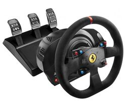 THRUSTMASTER T300 Ferrari Integral RW Alcantara Racing Wheel - Black