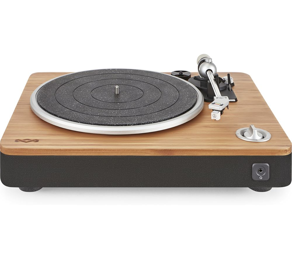 Image of House Of Marley Stir It Up Turntable - Bamboo & Black, Black