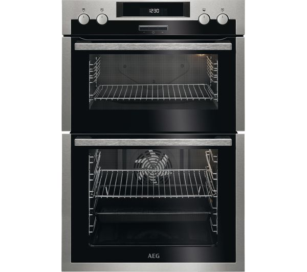 Image of AEG DCS431110M Electric Double Oven - Stainless Steel