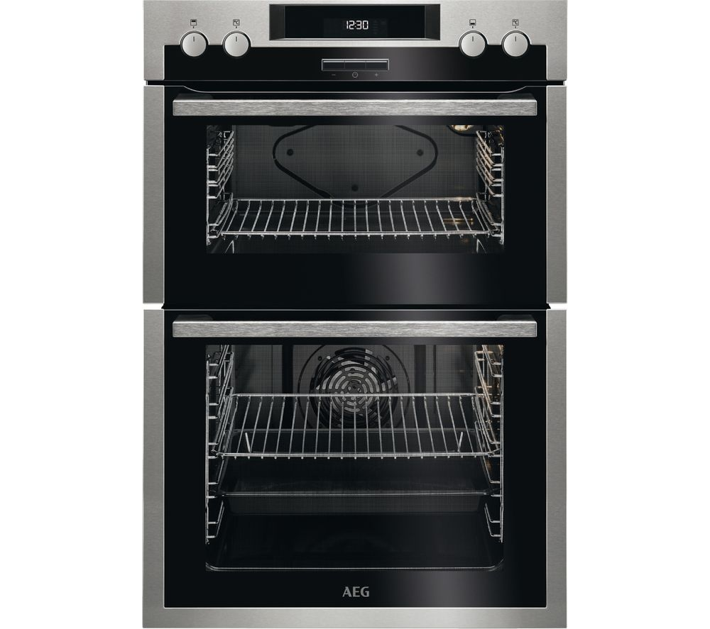 AEG SurroundCook DES431010M Electric Double Oven - Stainless Steel