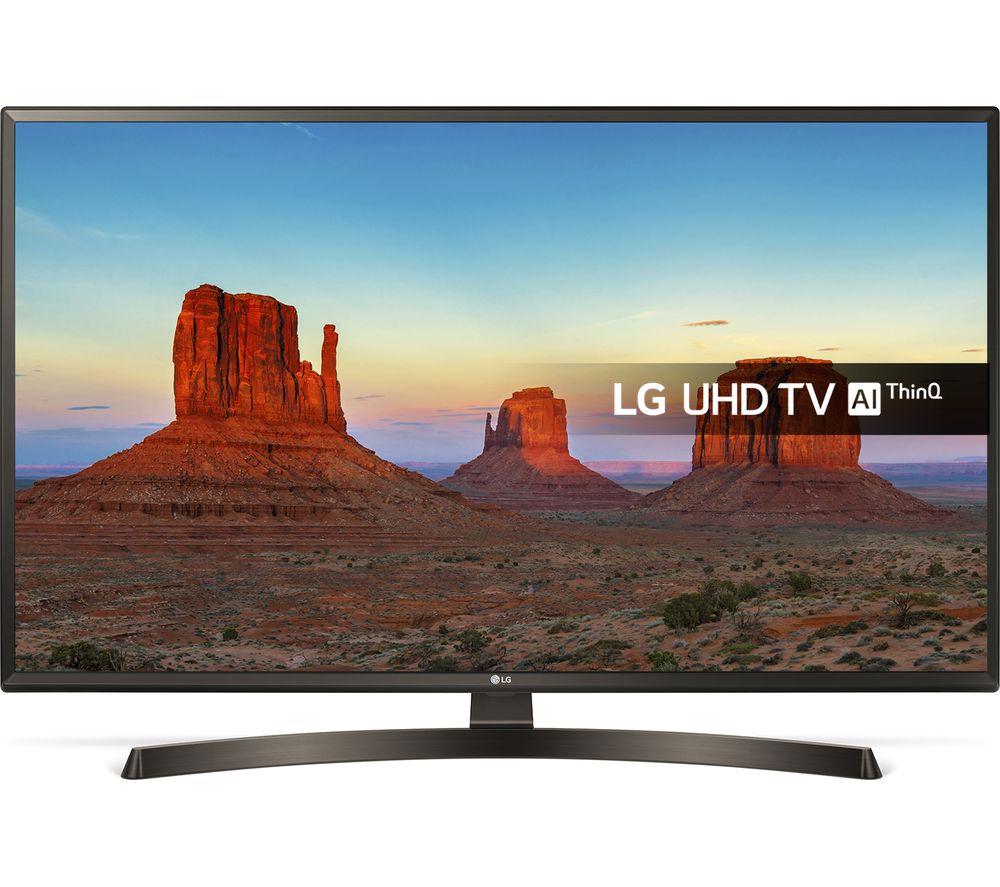 """49""""  LG 49UK6470PLC Smart 4K Ultra HD HDR LED TV, Gold"""
