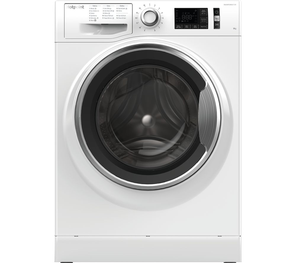 HOTPOINT ActiveCare NM11 946 WC A 9 kg 1400 Spin Washing Machine - White, White