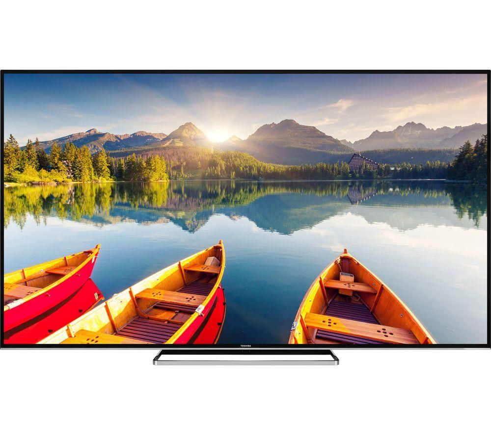 75″  TOSHIBA 75U6863DB Smart 4K Ultra HD HDR LED TV, Gold