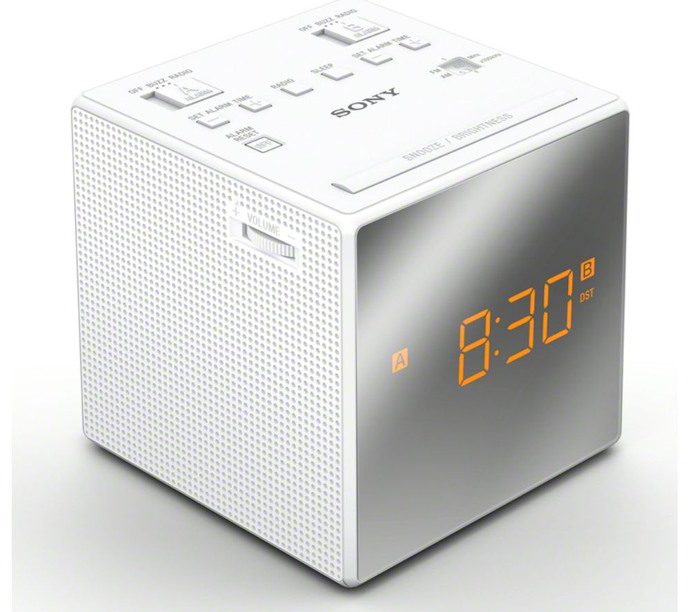 SONY ICF-C1TW FM/AM Clock Radio - White