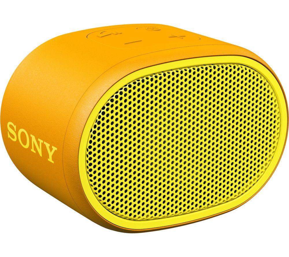 SONY SRS-XB01 Portable Bluetooth Speaker - Yellow & Orange, Yellow