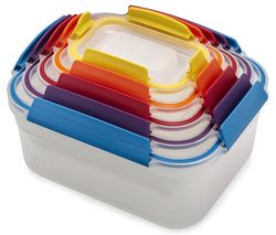 Nest Lock Rectangular Storage Container Set - Multicolour, Pack of 5
