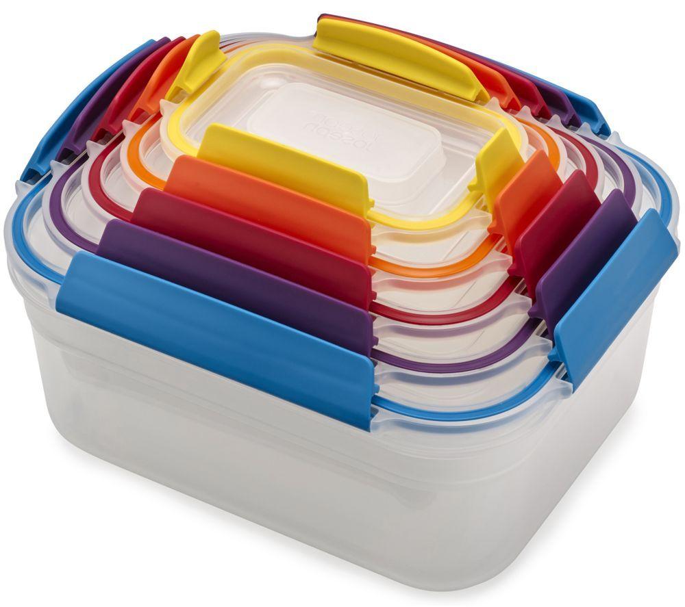 JOSEPH JOSEPH Nest Lock Rectangular Storage Container Set - Multicolour, Pack of 5