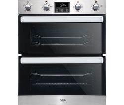 BELLING BI702FP Electric Built-under Double Oven - Stainless Steel