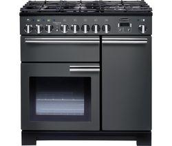 RANGEMASTER Professional Deluxe 90 cm Dual Fuel Range Cooker - Slate & Chrome
