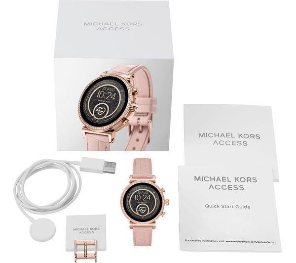 Buy Michael Kors Access Sofie Heart Rate Mkt5068 Smartwatch Rose