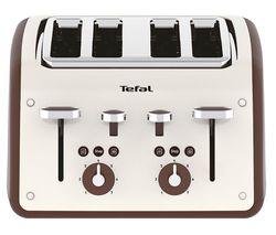 TEFAL Retra TF700A40 4-Slice Toaster - Cream & Mokka