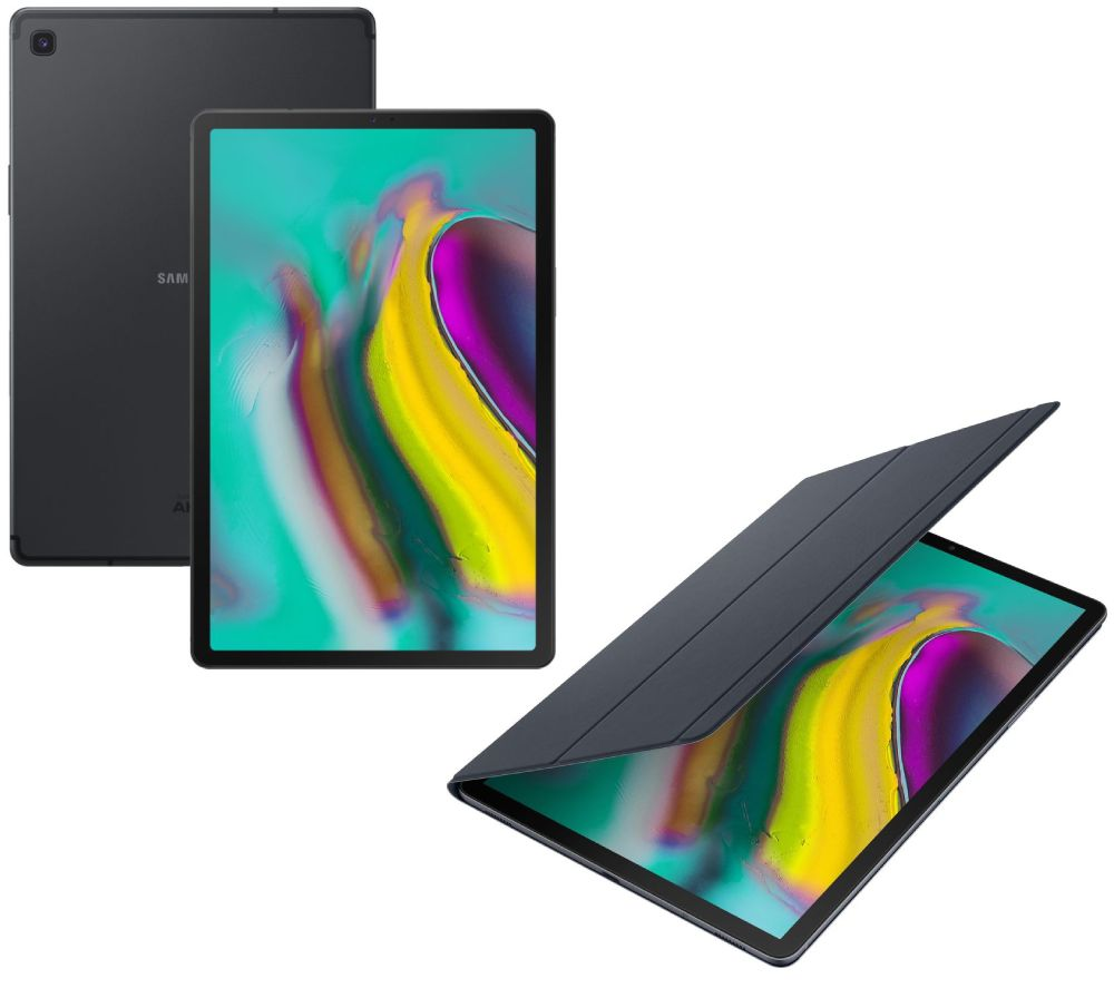 "Image of SAMSUNG Galaxy Tab S5e 10.5"" Tablet & Book Cover Bundle - 128 GB, Black, Black"