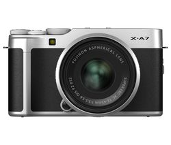 X-A7 Mirrorless Camera with FUJINON XC 15-45 mm f/3.5-5.6 OIS PZ Lens - Silver