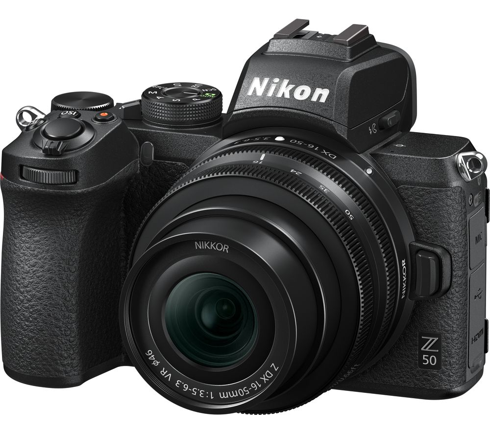 NIKON Z 50 Mirrorless Camera with NIKKOR Z 16-50 mm f/3.5-6.3 VR Lens & FTZ Mount Adapter
