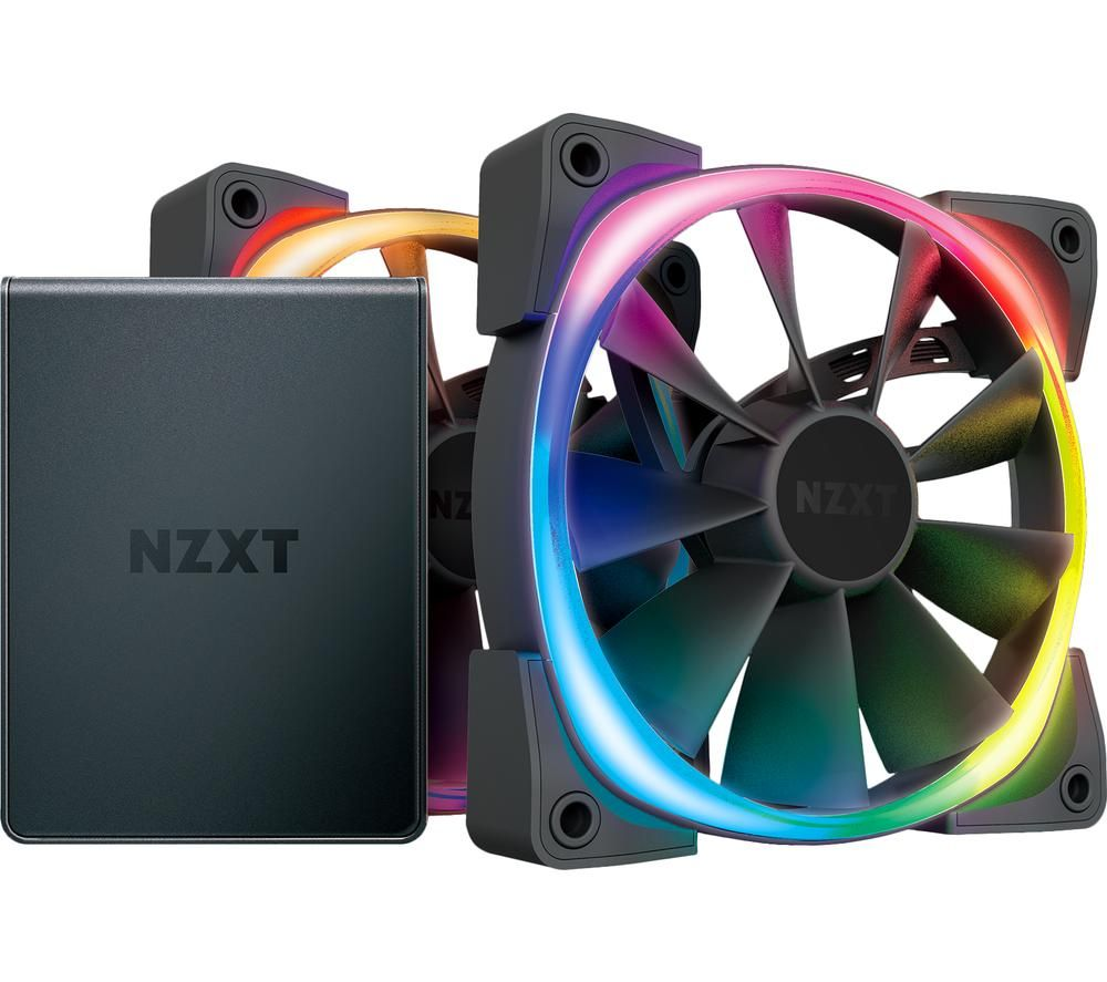 Image of Aer RGB 2 Dual Fan Pack with HUE 2 Controller - 120 mm