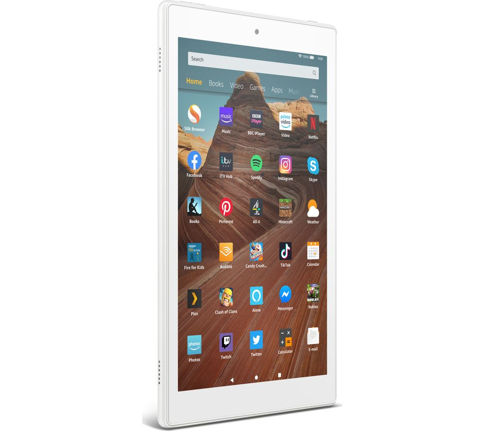 Image of AMAZON Fire HD 10 Tablet (2019) - 32 GB, White, White